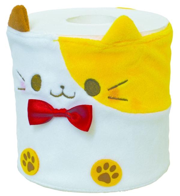 猫のトイレットペーパーカバー、三毛猫をモチーフにしたデザイン