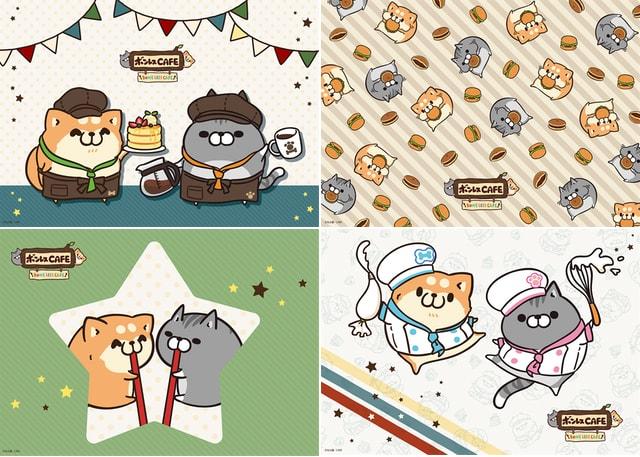 ボンレス犬とボンレス猫のランチョンマット