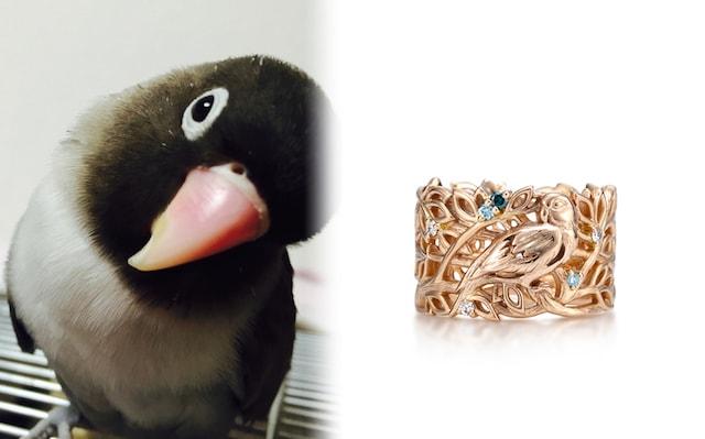 愛鳥の写真を元に作ったペンダント