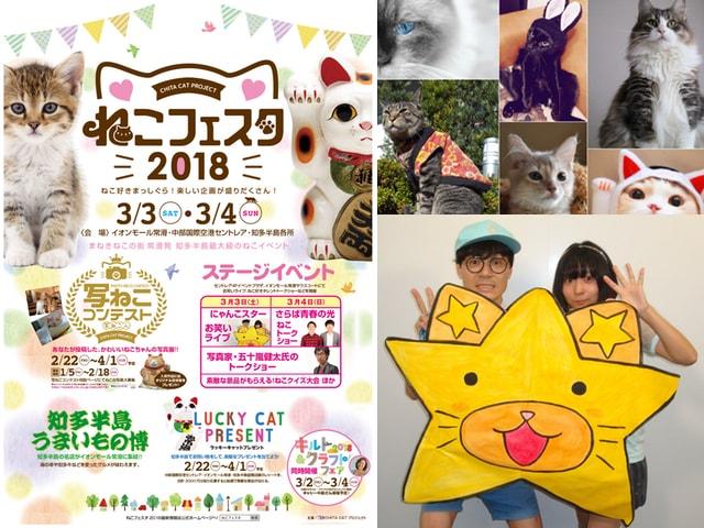 知多半島最大級の猫イベント「ねこフェスタ2018」にゃんこスターも登場