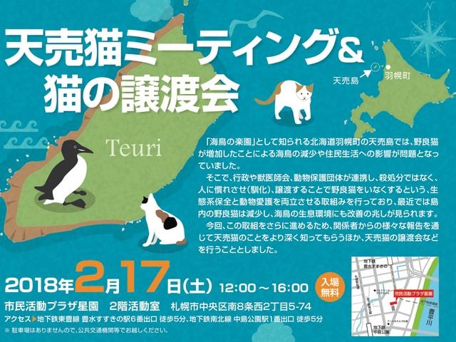 日本最北の猫島・天売島の猫ミーティング&猫の譲渡会が札幌で開催