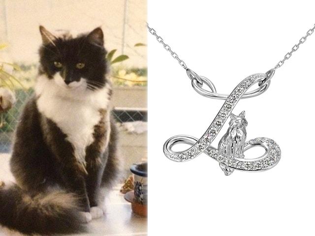 愛猫の写真を元にオーダーメイドのジュエリーを作れるサービスが登場