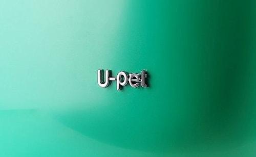 U-petのロゴが入った宇宙船をイメージした猫キャリーバッグ