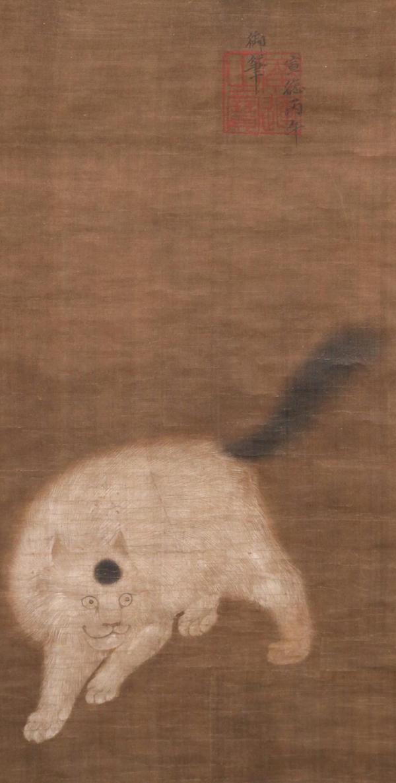 唐朝の第19代皇帝、宣宗皇帝(せんそうこうてい)が描いた、麝香猫図(じゃこうねこず)