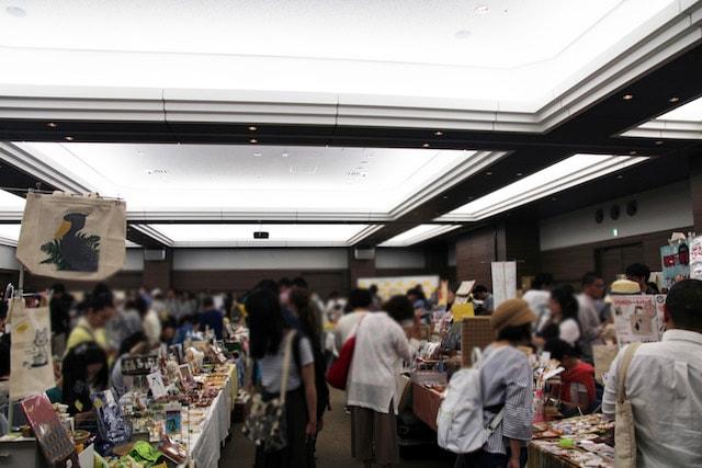 ねこマーケット開催風景