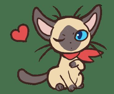 発情したメス猫のイメージイラスト