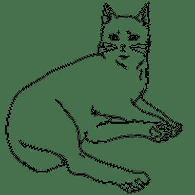 猫の塗り絵の下絵
