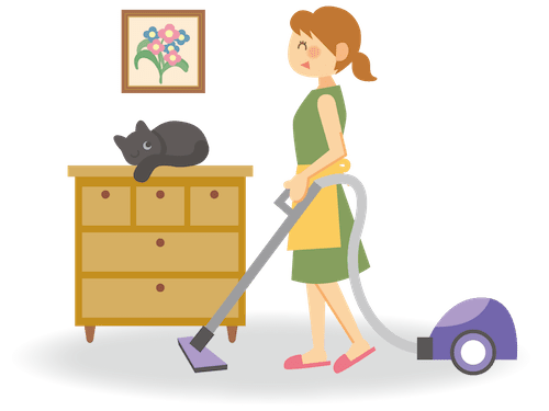 猫アレルギーの予防対策に有効な掃除