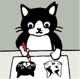 坂崎千春さんが手がける猫キャラクター「白黒さんいらっしゃい」