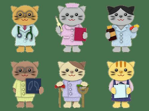 猫のお医者さんイメージイラスト