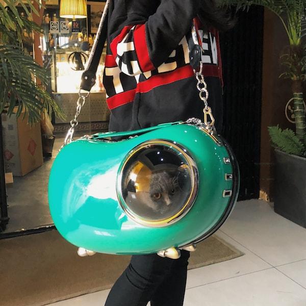 ショルダーでも使えるキャリーバッグ「U-pet アニマピーポッド」