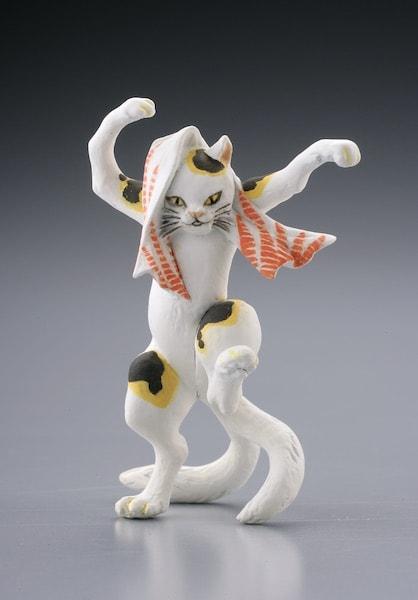 国芳の猫フィギュア by 見立東海道五拾三次 岡部 猫石の由来