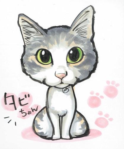 猫の似顔絵イメージ