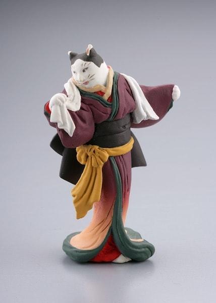 国芳の猫フィギュア by 猫久兵衛
