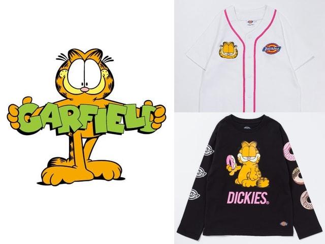 親子でも着れる♪ 猫キャラGARFIELDとDickiesのコラボアイテムが登場