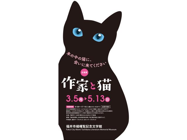 夏目漱石や向田邦子など、猫にゆかりのある作家の企画展「作家と猫」