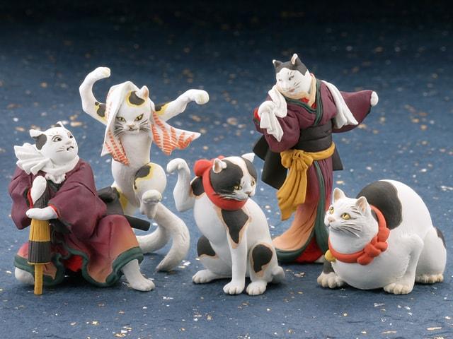 歌川国芳のネコ作品を立体化したカプセルトイ「カプセルQミュージアム 歌川国芳 猫の立体浮世絵美術館」