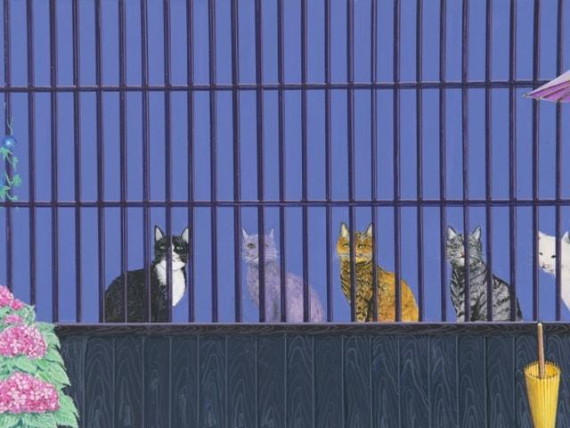 東京銀座・ギャルリさわらびにて、「猫・ノスタルジア」水間玲展開催