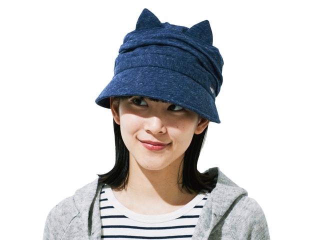 日差し対策もバッチリ!猫耳を出し入れできる「クロッシェ猫帽子」
