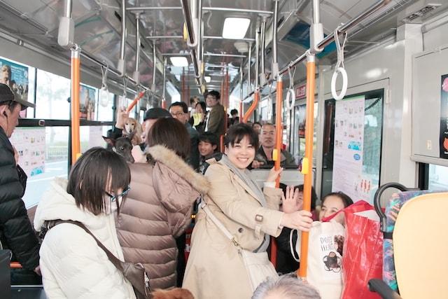 ペットが乗れる無料の送迎バス