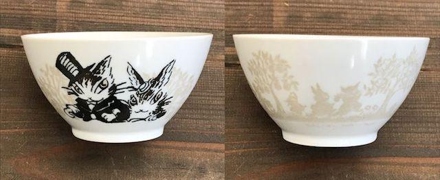 猫のダヤン×うさぎのマーシィのお茶碗2