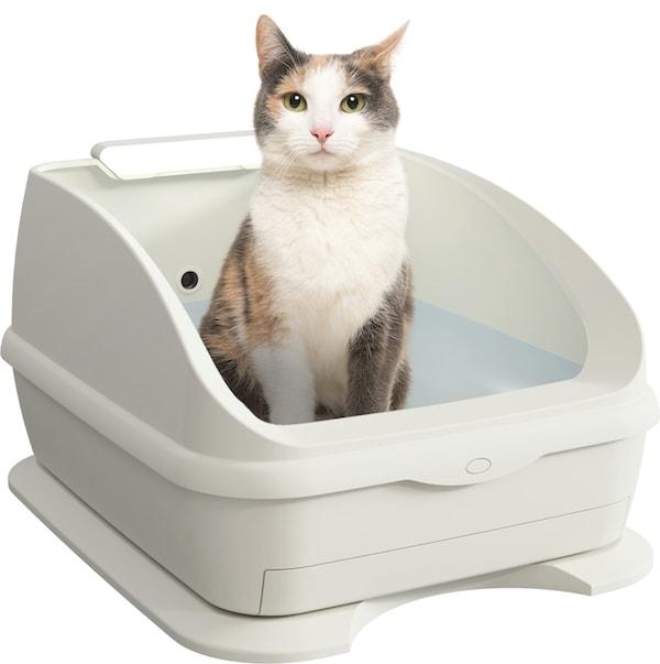 腎不全の初期症状を発見する猫トイレ「TOLETTA(トレッタ)」の製品イメージ