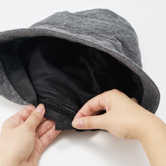 ファスナーでサイズ調整ができるクロッシェ猫帽子