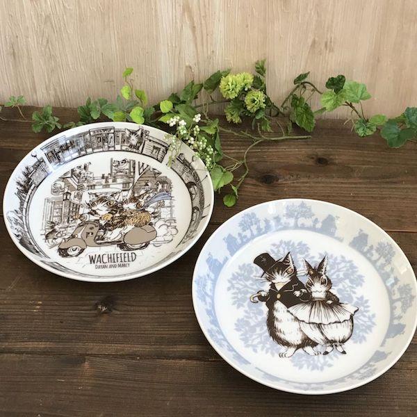 猫のダヤン×うさぎのマーシィの大皿