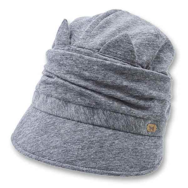 クロッシェ猫帽子 グレーカラー
