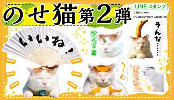 LINEスタンプ「のせ猫Ver.2」