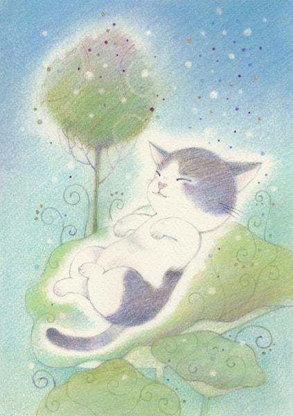 猫の絵画(作家:小林祐岐)