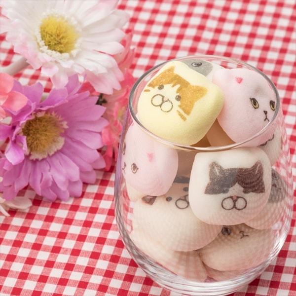 グラスに入れても可愛い、猫の和風マシュマロ(鳳瑞・ほうずい)