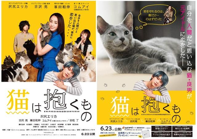 映画「猫は抱くもの」の新しいポスター(表裏)