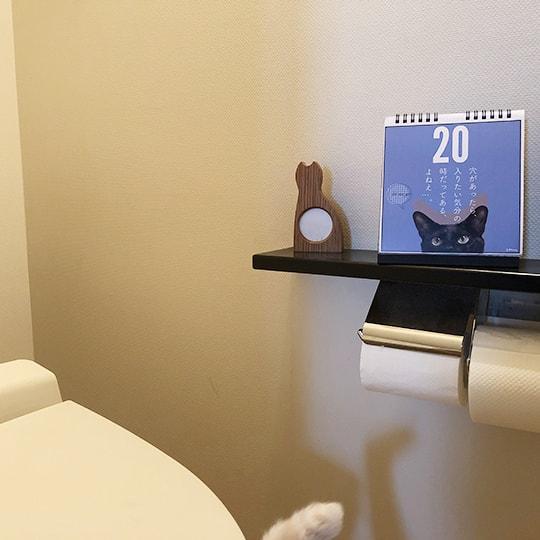 日めくりカレンダー「まいにち黒猫」の設置イメージ(トイレ)