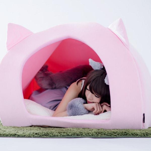 人間用ペットハウスの使用例(お昼寝)