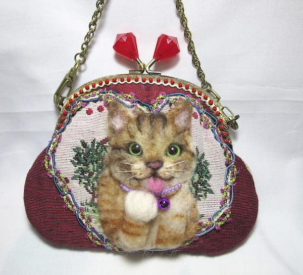 猫のポーチ by pink jean