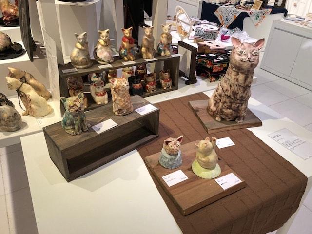 猫の立体作品コーナー