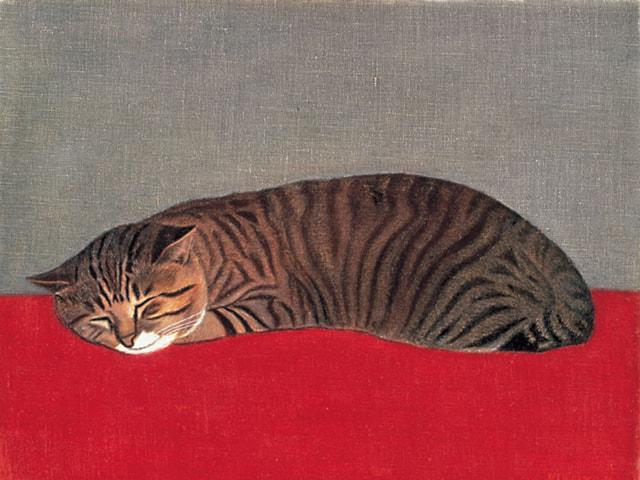 長谷川潾二郎《猫》1966年 宮城県美術館