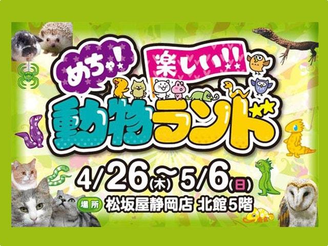 ネコにも会える「めちゃ!楽しい!!動物ランド」GWに静岡で開催