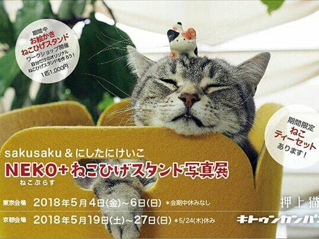 猫のヒゲを有効活用!「ねこひげスタンド写真展」が東京と京都で開催
