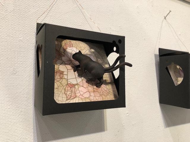 猫アート作品、猫又のお散歩