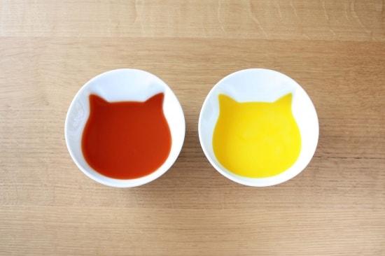 ECRU(エクリュ)の新作食器「ねこスープボール」(スープを注いだ状態の様子