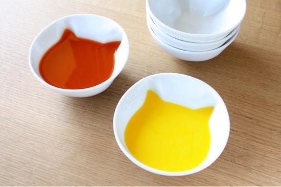 「ねこスープボール」にスープを注いだ状態 by ECRU(エクリュ)