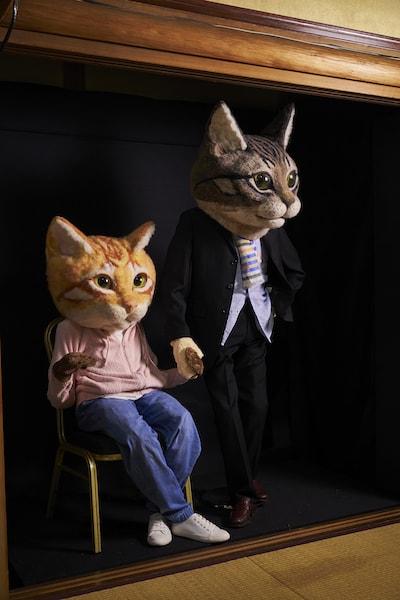 羊毛フェルトで作った巨大猫「リアル猫ヘッド」 by 佐藤法雪
