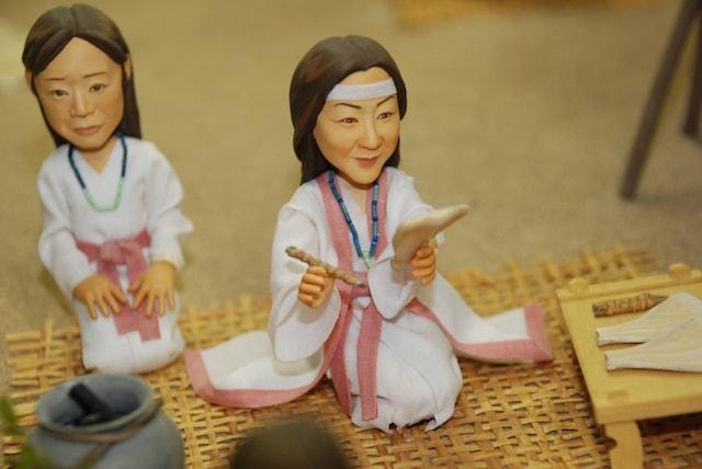 一支国博物館の常設展示、ミニチュア人形