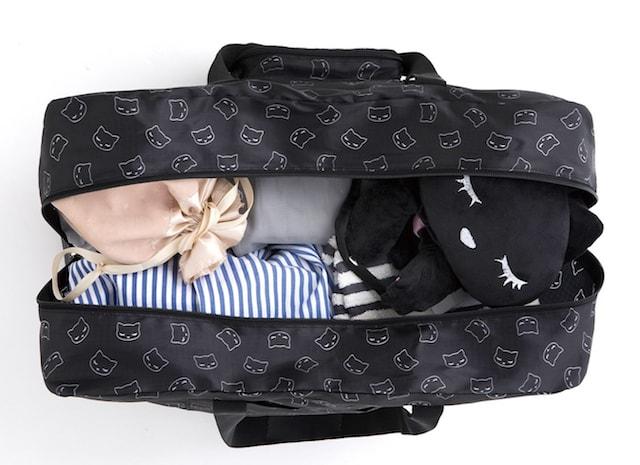 おすましプーちゃんのボストンバッグの収納量イメージ