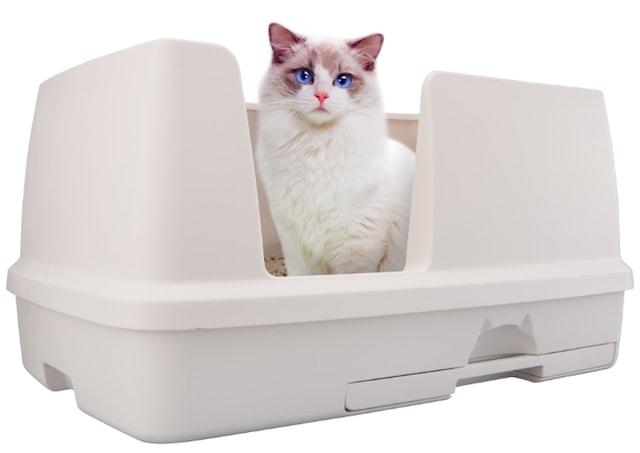 メインクーンやノルウェージャンフォレストキャットなどの大型猫も使えるトイレ「デオトイレ 快適ワイド」