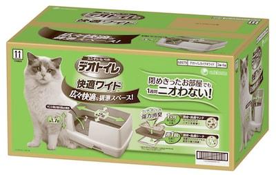 猫トイレ「デオトイレ 快適ワイド」の商品パッケージ