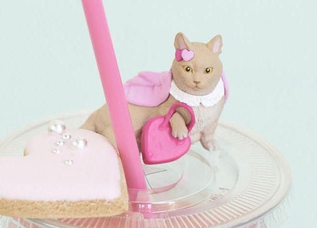 猫フィギュア「Mary's Favorite cat」、マンチカンのゾラちゃん(ズーム)