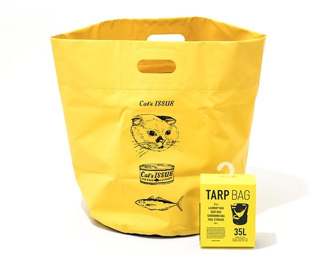 猫デザインのタープバッグ by Cat's ISSUEコラボアイテム